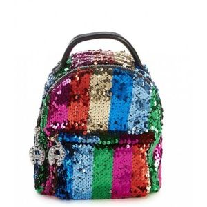 Betsey Johnson Sequence Rainbow Mini Backpack